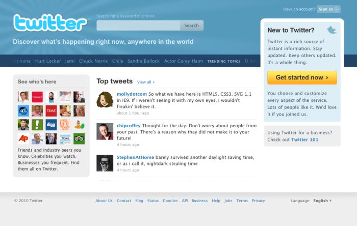 Pourquoi Twitter change à nouveau sa paged'accueil